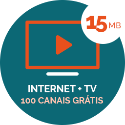 100 Canais TV + 15MB