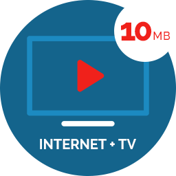 TV + Internet 10 MB